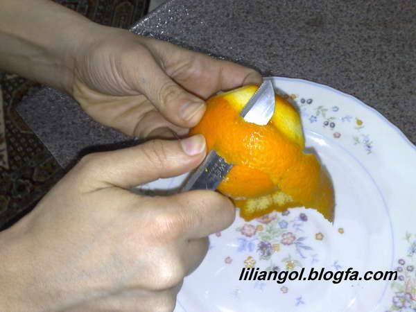 مطبخ رویا - مربای پوست پرتقال به شکل گل رز
