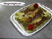 سبزی پلو با ته چین ماهی
